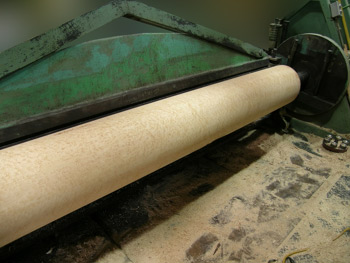 flame birch on lathe
